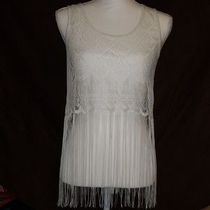 Lace cover tank top